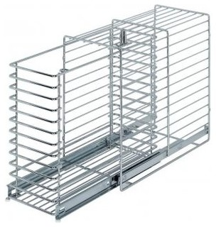Lockable Pull-Out Cabinet Cage - Contemporary - Pantry And Cabinet Organizers - by MoreStorage Inc