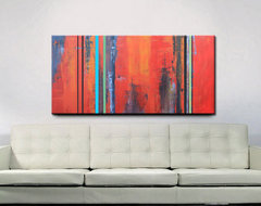 Original Abstract Acrylic Painting by Red Moon Studio Art eclectic-artwork