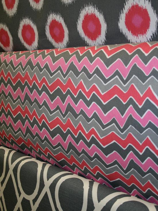 Pink and Grey Fabrics -