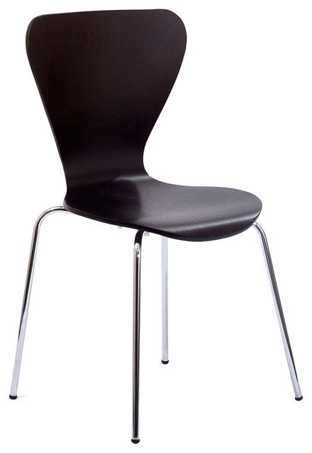 Arne Jacobsen Style Series 7 Side Chair Wenge contemporary-dining-chairs