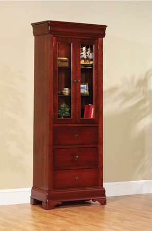 Amish Side Bookcase contemporary-bookcases