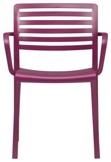 Surf Magenta Dining Chair contemporary-outdoor-lounge-chairs