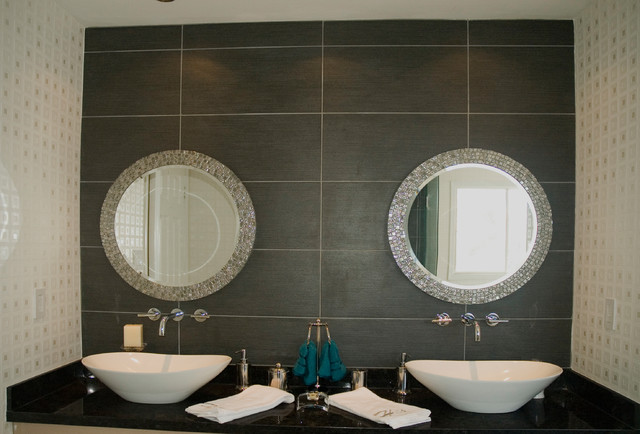 Custom Mirror Double Sink Vanity Contemporary Toronto By Floor An