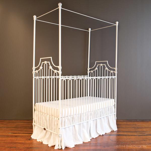 Parisian 3-in-1 Crib, Distressed White traditional-cribs