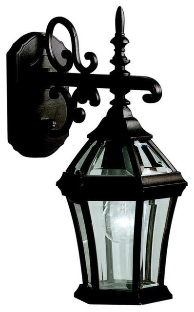 Kichler Lighting - 9789BK - Townhouse - One Light Outdoor Wall Bracket traditional-outdoor-lighting