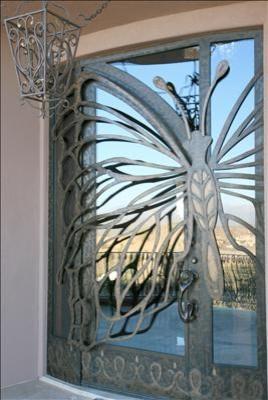 Custom Butterfly Pivot Door