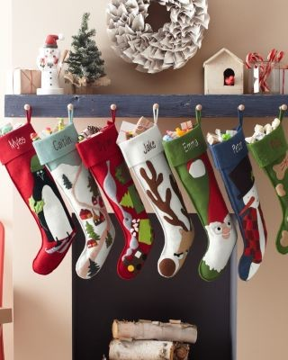 Contemporary Christmas Stockings And Holders by Garnet Hill