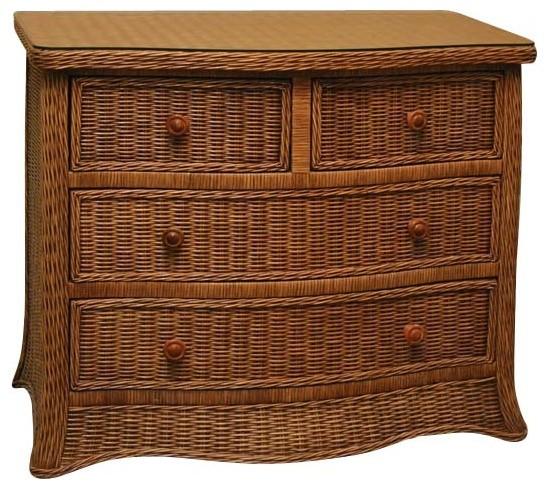 Roma 4-Drawer Wicker Dresser tropical-furniture