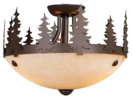 Yosemite Burnished Bronze Fan Light Kit rustic-ceiling-fan-accessories