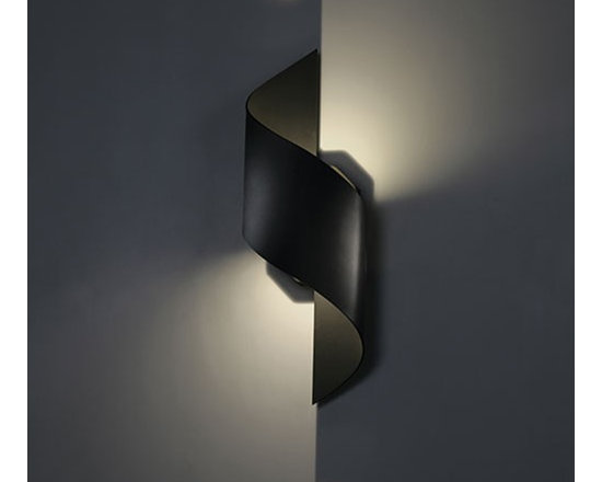 WAC Modern Forms - WAC Modern Forms | Helix 24 Inch LED Outdoor Wall Light - Design by Modern Forms.The Helix 24 Inch LED Outdoor Wall Light is sleek and commanding. The dramatic curves and contours define the graceful design. Provides both up and down light. Available in graphite or bronze finishes.