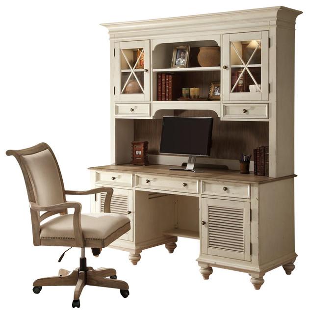 riverside furniture coventry two tone credenza hutch in