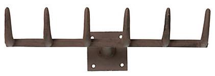 Iron Rake Hook eclectic-hooks-and-hangers