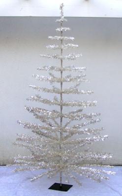 6' Silver Aluminum Christmas Tree - Vintage Style modern-christmas-trees