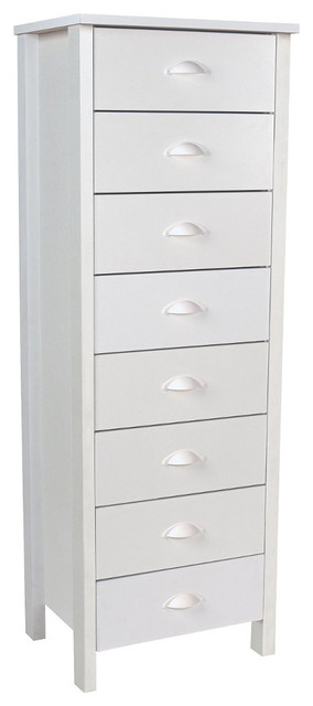 Neuvelle 8 drawer lingerie bureau in white contemporary for Armoires lingeres