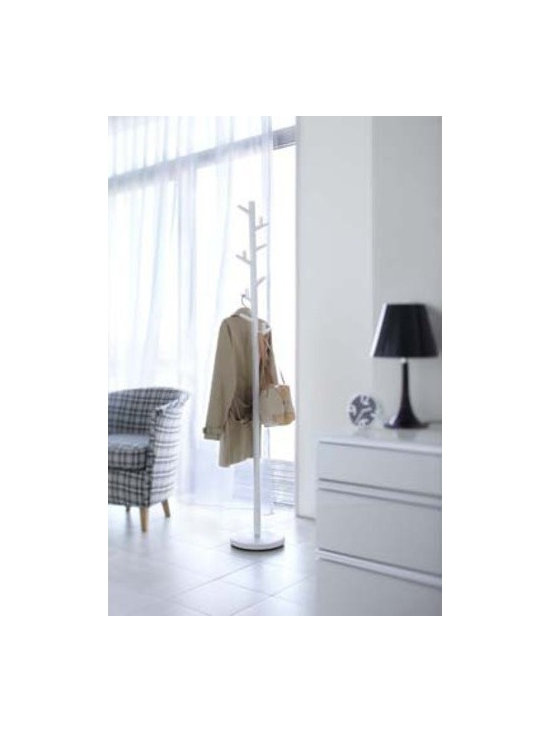 "Paul - Modern Coat Rack / Stand, 70"" High - The innovative design and durable construction create an unique free standing metal coat rack"