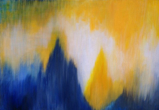 Abstract Landscape Paintings contemporary-artwork