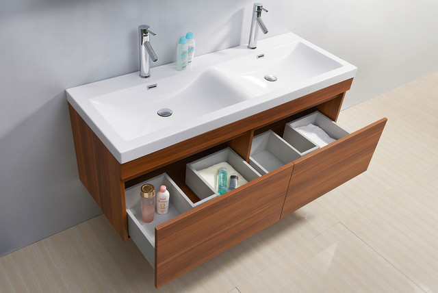 Zuri 55 inch double sink plum bathroom vanity contemporary los angeles by vanities for for 55 inch double sink bathroom vanity