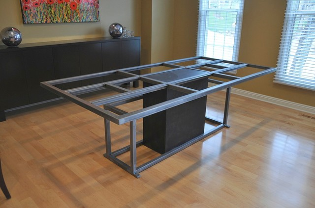 All categories rustic home decor rustic kitchen decor - Steel Table Base Table Tops And Bases Omaha By