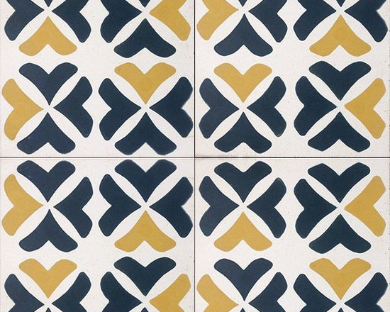 In Stock Cement Tile - Cement Tile Shop - Handmade Cement Tile | Borgo Alegri. Designed by Anna Burrous. With a quarter turn the tile pattern takes on a whole new look.