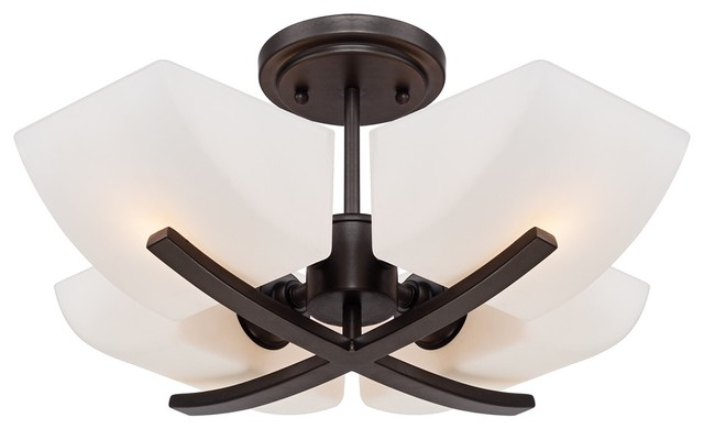 "Possini Euro Leander 17 3/4"" Wide Bronze Ceiling Light transitional-flush-mount-ceiling-lighting"