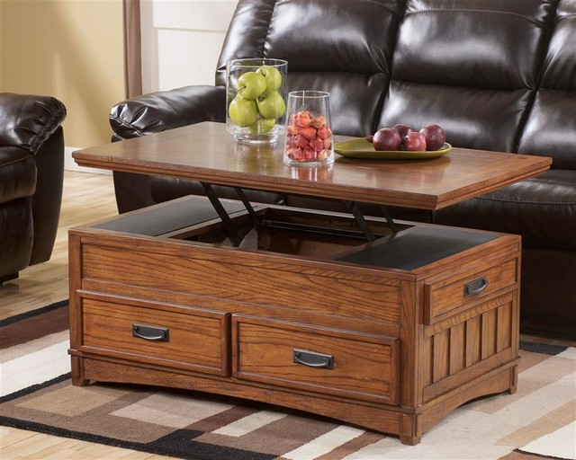 Rectangular Storage Lift-Top Cocktail Table contemporary-coffee-tables