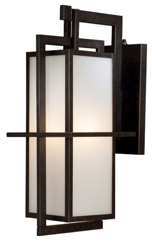 Modern outdoor wall lantern