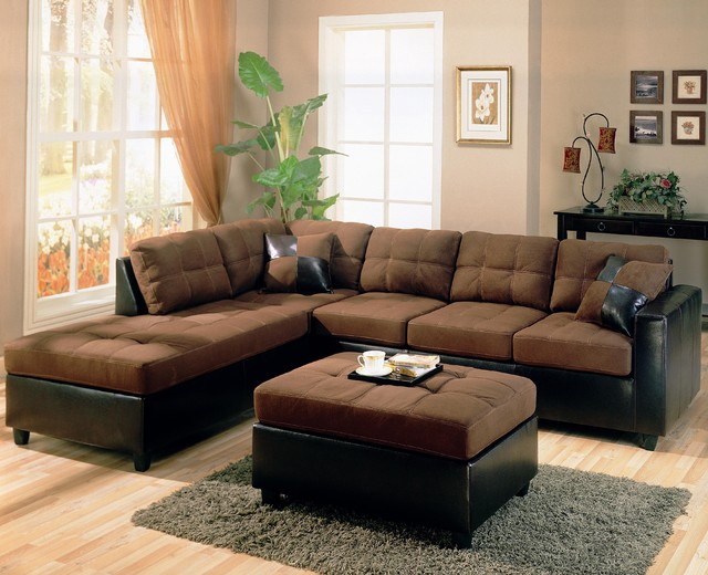 Living Room with Brown Sofa Decorating Ideas 640 x 520