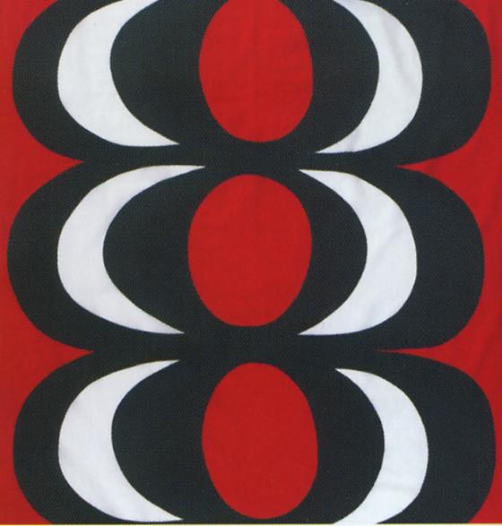 KAIVO Red/Black Fabric by Marimekko modern-upholstery-fabric