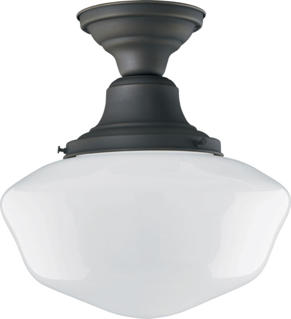 Jefferson Classic Flush Ceiling Fixture traditional-ceiling-lighting