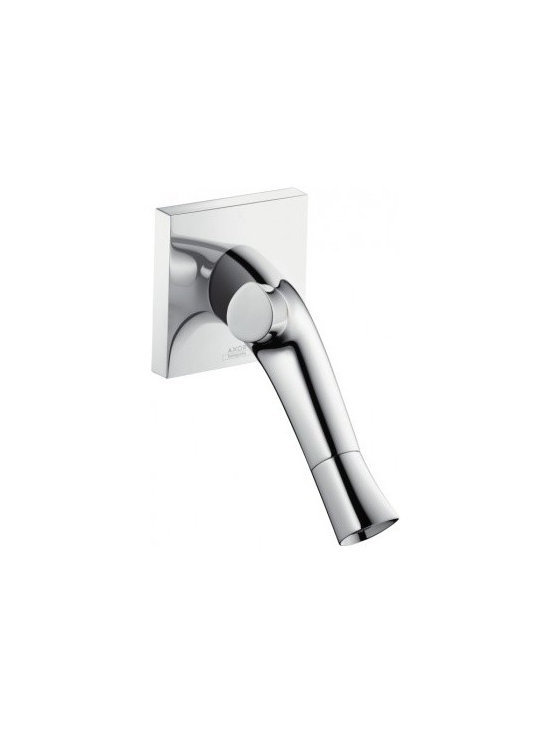 Hansgrohe Axor Starck Organic 2-Handle Wall-Mounted Faucet 12015001 - Handle at the top regulates water temperature (adjustable temperature restriction)
