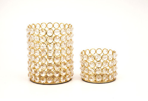 Fashion N You by Horizon Interseas Crystal Bead Tea Lights contemporary-candles-and-candleholders