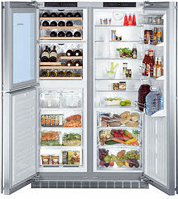 Refrigerator with built in wine cooler contemporary-refrigerators-and ...