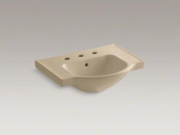 """KOHLER Veer(TM) 24"""" widespread sink basin contemporary-bathroom-sinks"""