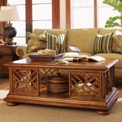 Tommy Bahama Island Estate Cliff House Rectangular Wood Cocktail Table modern-coffee-tables