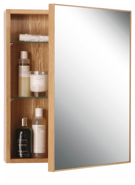 Wireworks natural oak slimline cabinet 550 modern for Slimline bathroom cabinet