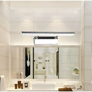 bathroom led lights over mirror natural white modern bathroom