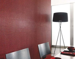 Porcelanosa Minimosaic Red wall tiles modern-dining-room