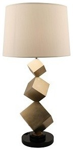 Bronze Cube Table Lamp contemporary table lamps