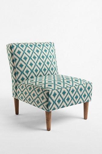 Slipper Chair Woven Medi Ikat Contemporary Armchairs
