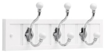 Liberty Hardware R46139J-W-L 0 18 Inch Hook - White modern-towel-bars-and-hooks