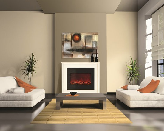 Amantii ZECL-30-3226 with Simply White mantel - Jeanne Grier/Stylish Fireplaces & Interiors