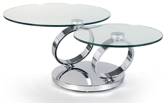 MODERN CHROME AND GLASS SWIVEL COFFEE TABLE ANCONA - Modern - Coffee Tables - san francisco - by ...