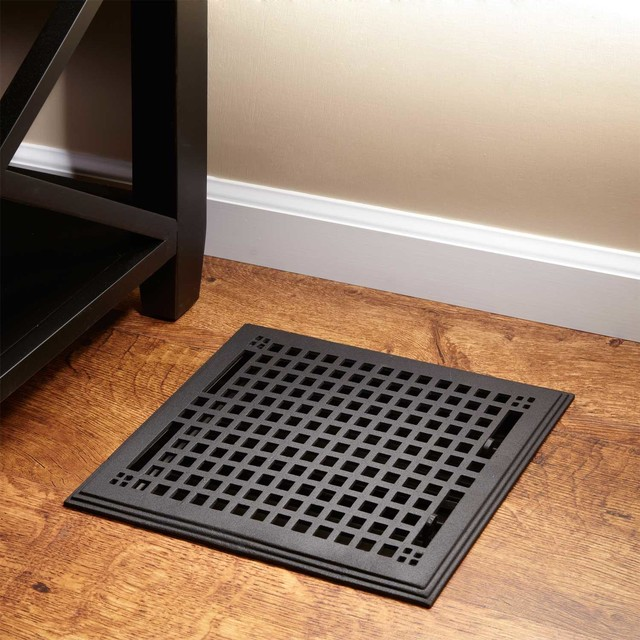 Oversized Mission Cast Iron Floor Register Contemporary