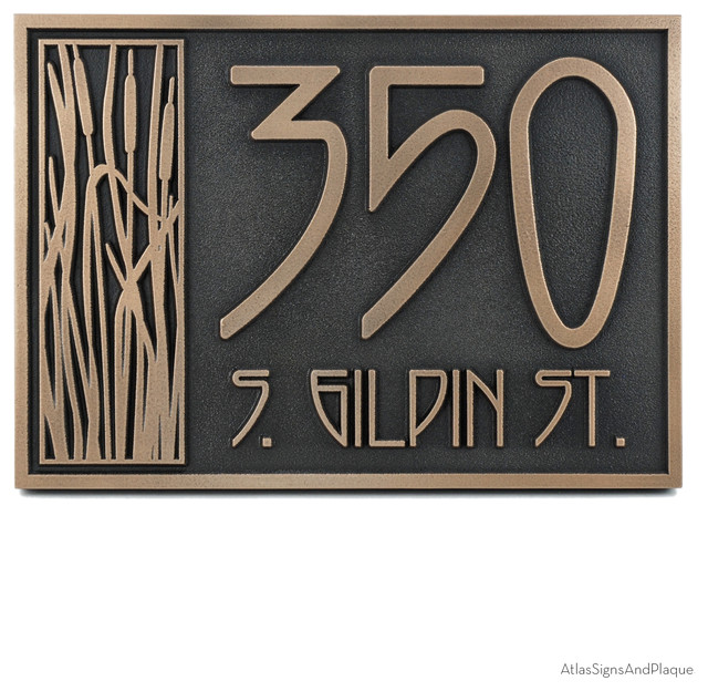 Cattail Craftsman House Numbers craftsman-house-numbers