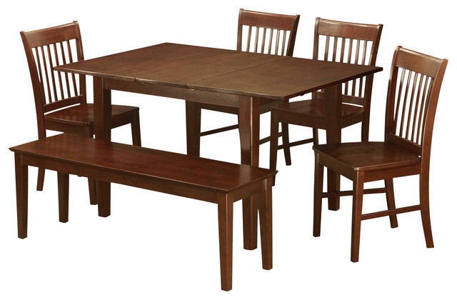 6 piece small kitchen table set tables and 4 dining for Small kitchen table for 4