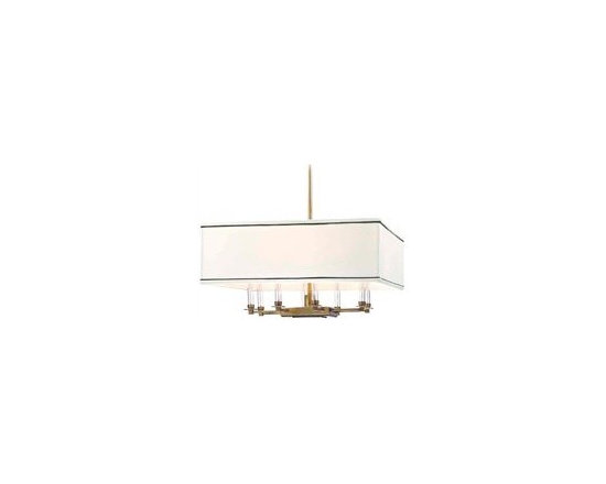 Hudson Valley Lighting Collins Transitional Chandelier - HV-2924-AGB - Hudson Valley Lighting Collins Transitional Chandelier - HV-2924-AGB