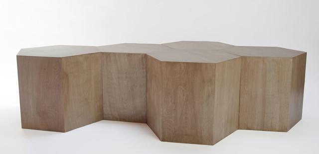 Modular geometric hive table modern coffee tables for Modular coffee table