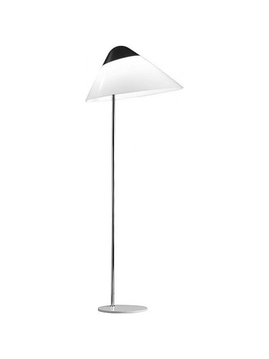 Wegner Opala G03 Floor Lamp Black Top and Base, by Carl Hansen