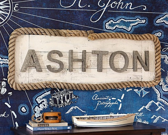 Galvanized Wall Letters -