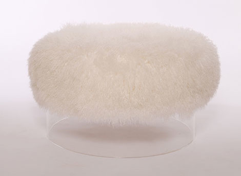 Fluffy Ottoman modern-footstools-and-ottomans